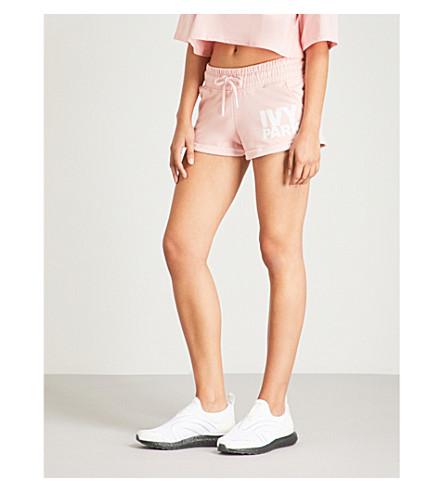 mezcla Pantalón de IVY algodón Powder pink logotipo estampado PARK de en corto con qI55ZpHwUW