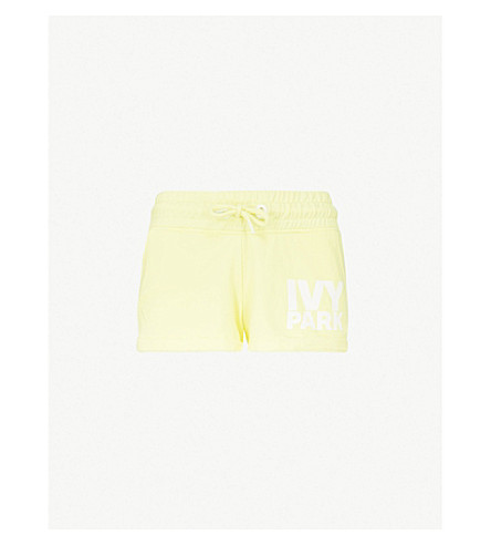 IVY PARK Logo-print cotton-blend shorts (Yellow+pear