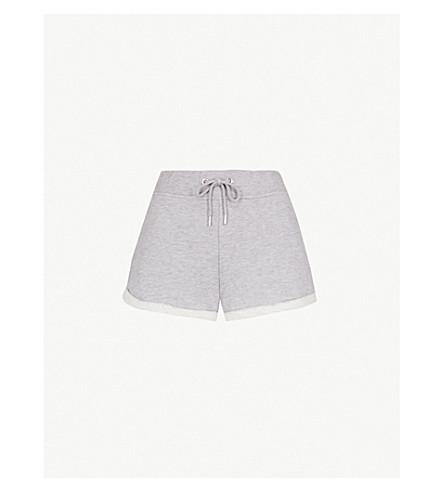 IVY PARK 标识刺绣平纹针织面料短裤 (灰色