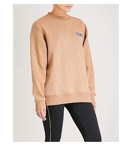 IVY PARK Logo-patch cotton-jersey sweatshirt (Sand