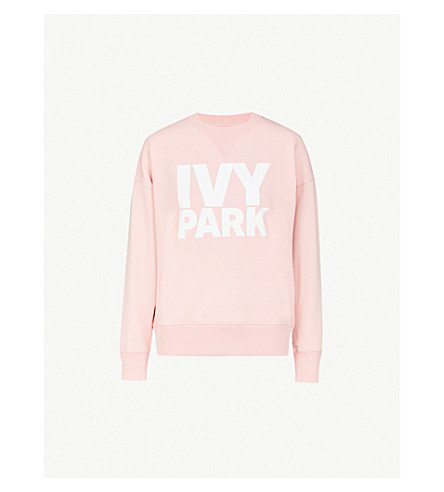 IVY PARK Logo-print cotton-blend sweatshirt (Powder+pink