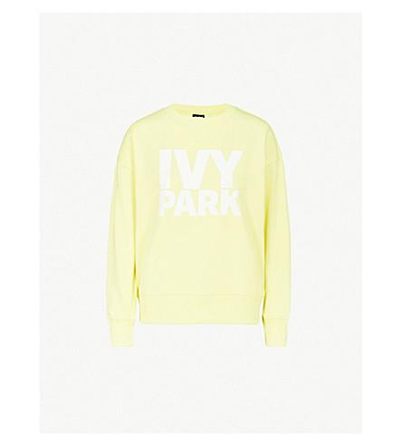IVY PARK徽标-印花棉混纺运动衫 (黄 + 梨