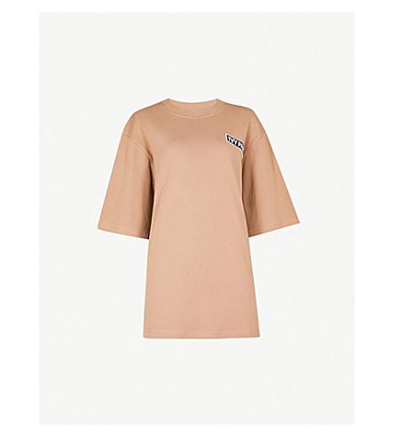 IVY PARK 标识刺绣特大平纹针织棉 T 恤 (砂