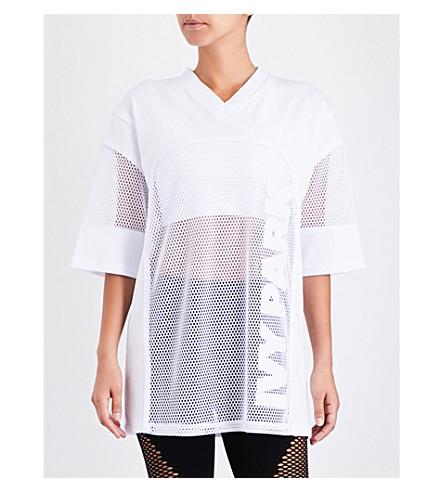 IVY PARK Oversized mesh top (White