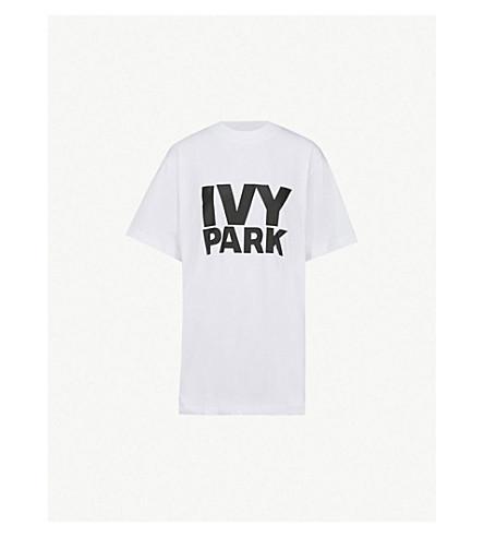 IVY PARK Logo-print cotton-jersey T-shirt (White