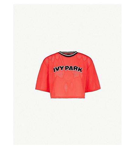IVY PARK Airtex 运动网格裁剪顶部 (罂粟 + 红色