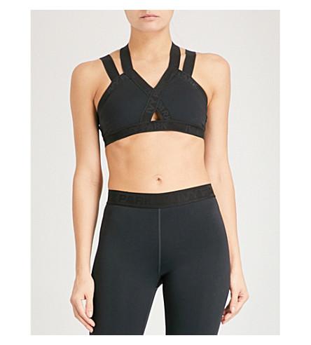 IVY PARK Harness-detail stretch sports bra (Black