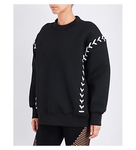 IVY PARK Lace-up detail jersey sweatshirt (Black