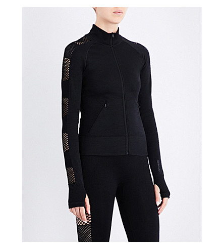 IVY PARK Net-detailed jacket (Black