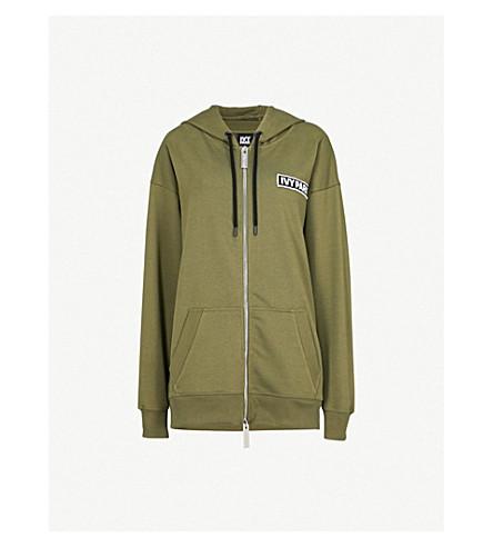 IVY PARK Logo-detail cotton-blend hoody (Moss