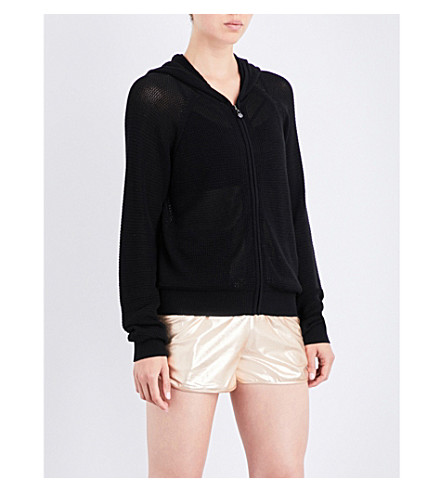SWEATY BETTY Rejuvenate stretch-jersey knitted cardigan (Black
