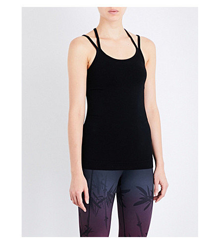SWEATY BETTY Namaska stretch-jersey yoga top (Black