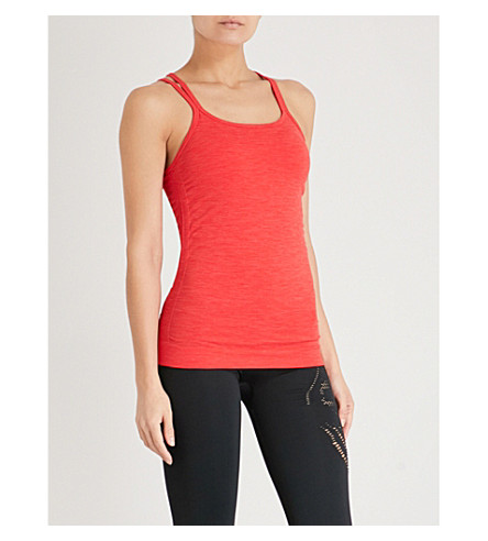 SWEATY BETTY Namaska stretch-jersey yoga top (Scarlet red flame