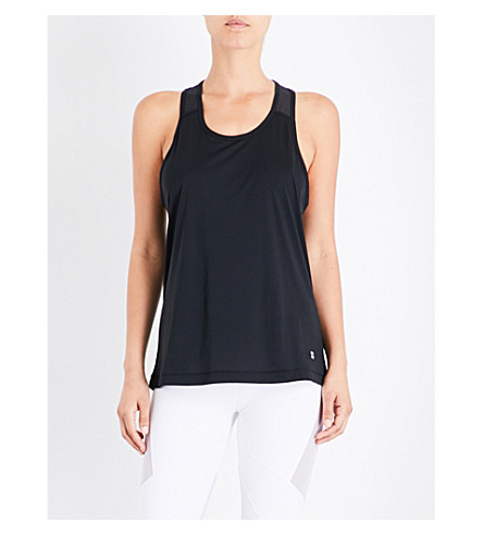 SWEATY BETTY Compound jersey top (Black