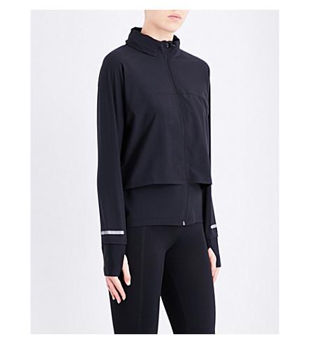 SWEATY BETTY Fast Track stretch-jersey jacket (Black