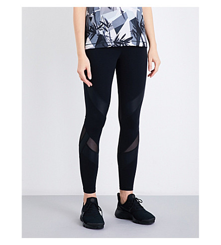 SWEATY BETTY Power 7/8 stretch-jersey and mesh leggings (Black