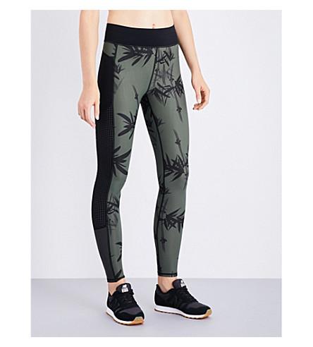 SWEATY BETTY Zero Gravity Run jersey leggings (Olive+bamboo+shadow