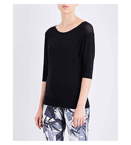 SWEATY BETTY Dharana Yoga jersey top (Black
