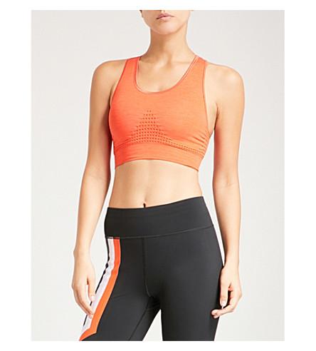 SWEATY BETTY Stamina stretch-jersey sports bra (Orange