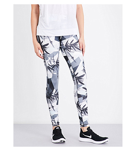 SWEATY BETTY Contour workout leggings (Bamboo+shadow+print