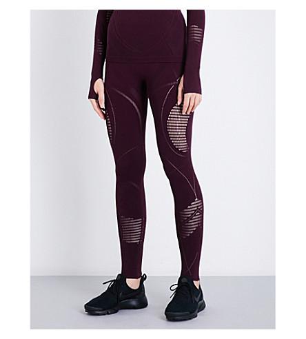 SWEATY BETTY Prism seamless stretch-jersey leggings (Oxblood