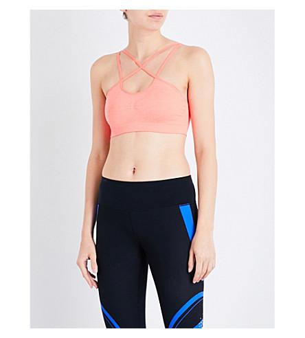 SWEATY BETTY Shanti stretch-jersey sports bra (Fluro+flash