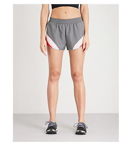 SWEATY BETTY Interval Run shell shorts (Steel+grey+colour+block