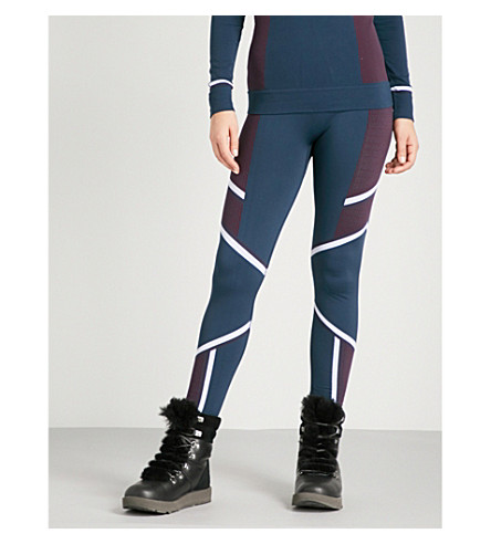 SWEATY BETTY漂移滑雪基层弹力平纹针织绑腿 (漂移 + 提花