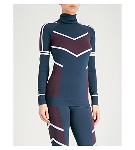 SWEATY BETTY Drift Ski Base Layer strech-jersey top (Drift+jacquard