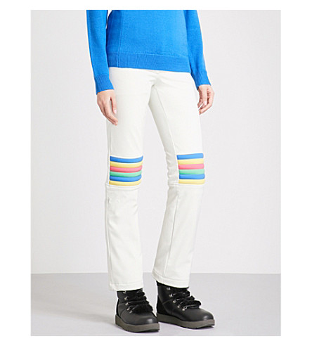 PERFECT MOMENT Aurora flared slim-fit mid-rise stretch-shell ski trousers (Snow+white+rainbow