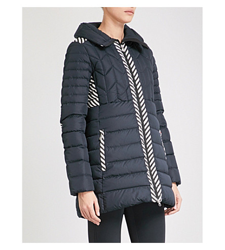 PERFECT MOMENT Alps quilted puffer shell-down and feather-blend ski jacket (Black snow white
