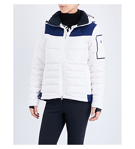 PERFECT MOMENT Amak quilted shell ski jacket (Snow white/navy