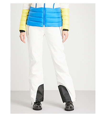 PERFECT MOMENT Chamonix shell ski trousers (Snow+white