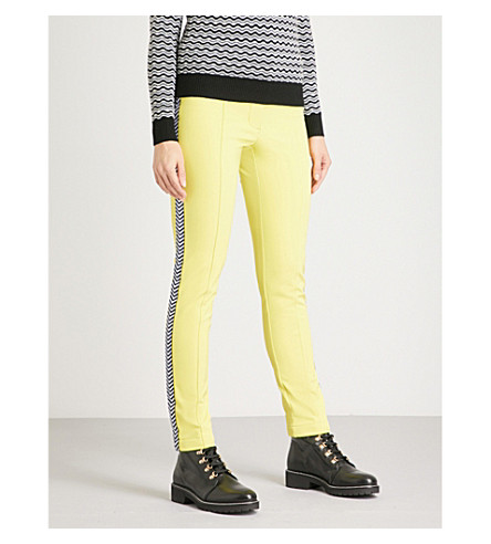 PERFECT MOMENT Morillon high-rise shell ski trousers (Citron