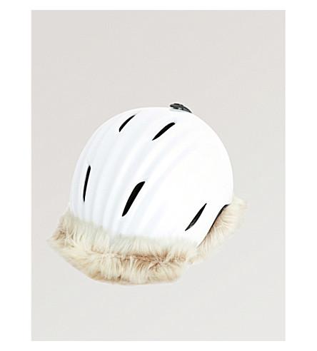完美瞬间极地明星人造毛皮装饰滑雪头盔 (雪 + 白