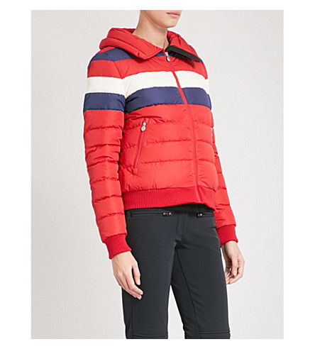 PERFECT MOMENT Queenie quilted shell puffer ski jacket (Red+rainbow