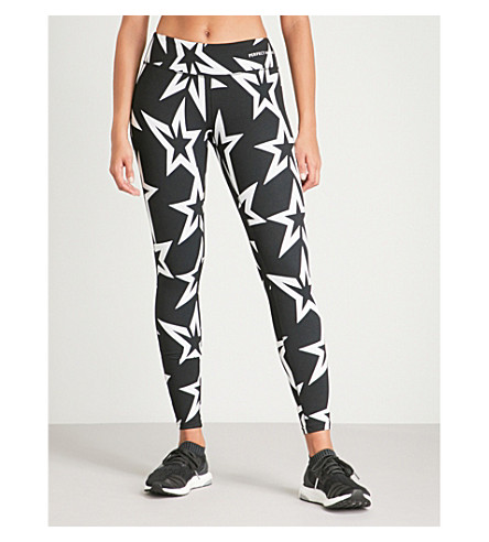 PERFECT MOMENT STARLIGHT STRETCH-JERSEY LEGGINGS