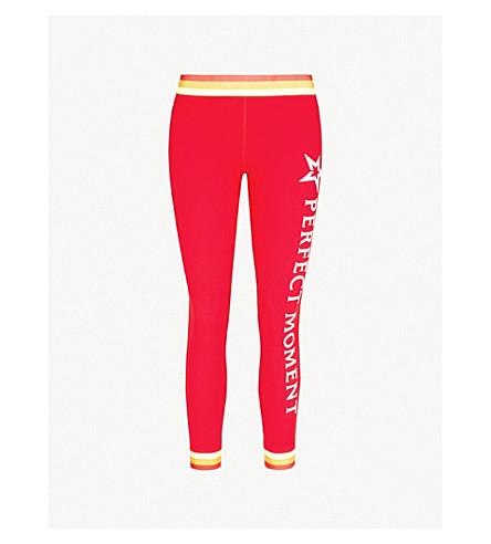 PERFECT MOMENT比赛条纹弹力裤 (红彩虹