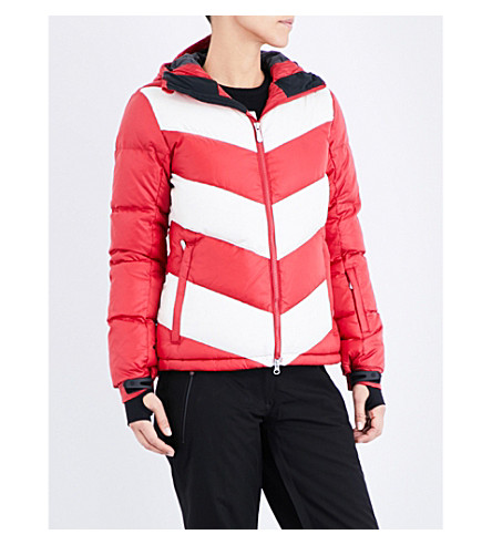 PERFECT MOMENT Super Day quilted shell jacket (Red/snow white