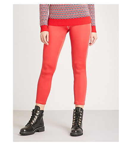 PERFECT MOMENT Thermal stretch-jersey ski leggings (Red
