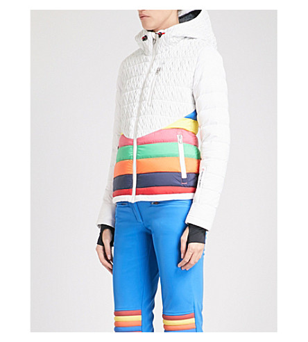 PERFECT MOMENT Vale quilted puffer ski jacket (Snow+white+rainbow