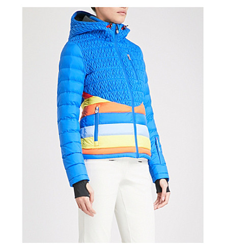 PERFECT MOMENT Vale quilted puffer ski jacket (Cobalt+rainbow