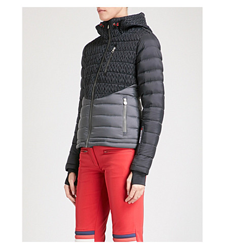 PERFECT MOMENT Vale quilted puffer ski jacket (Black+asphalt+grey