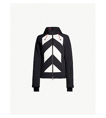 PERFECT MOMENT蒂涅绗缝软壳面料夹克 (黑/雪白色条纹