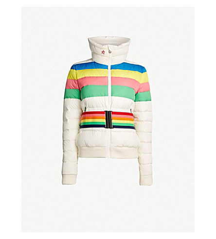 PERFECT MOMENT Queenie shell-down jacket (Snow white/rainbow