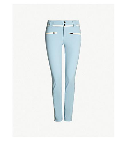 PERFECT MOMENT Aurora high-rise skinny stretch-shell ski trousers (Alaska blue/snow white