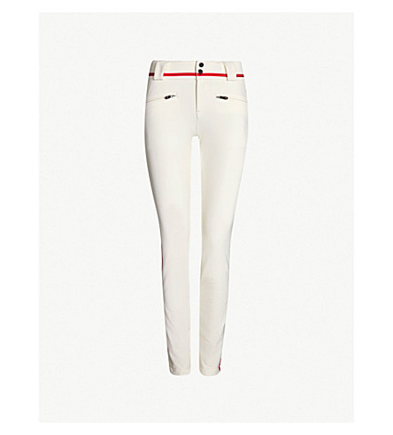 PERFECT MOMENT Aurora high-rise skinny stretch-shell ski trousers (Snow white/red