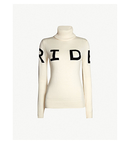 PERFECT MOMENT Ride II turtleneck wool jumper (Snow white