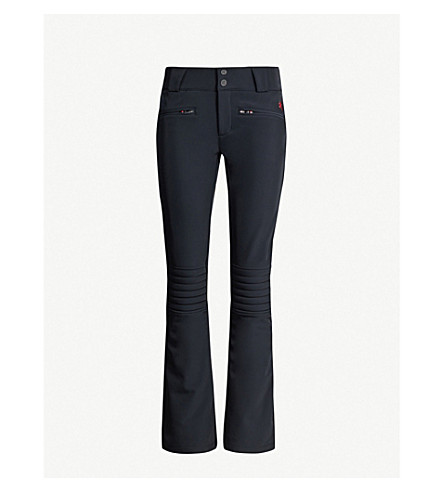 PERFECT MOMENT Aurora flared stretch-shell ski trousers (Black