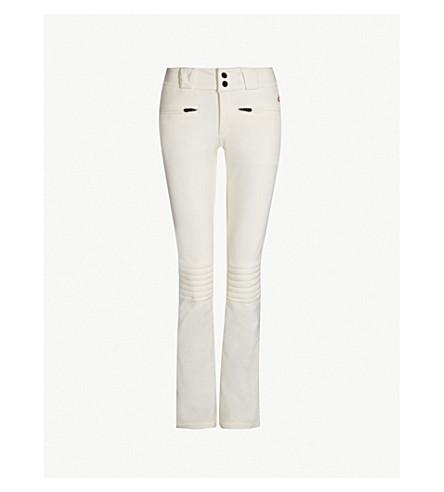 PERFECT MOMENT Aurora mid-rise stretch flared ski trousers (Snow white